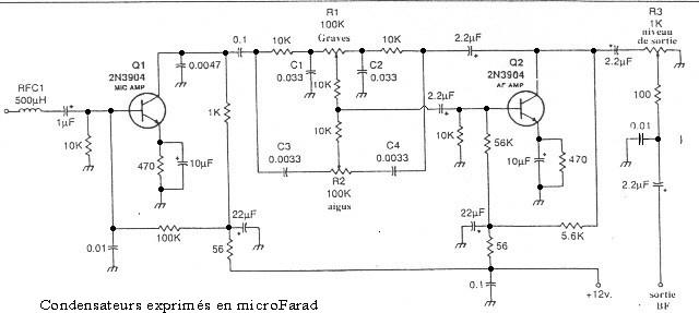 Schéma préampli micro